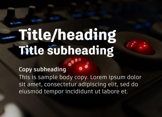 Autodesk example of type text over dark image